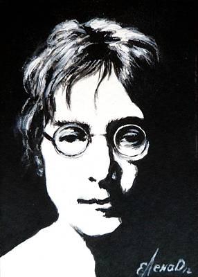 Abbey Road Painting -  John Lennon by Lena Day