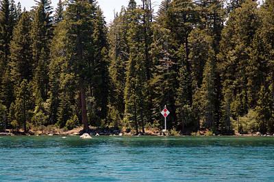Background Photograph -  Lake Tahoe Sugar Pine Point Light by LeeAnn McLaneGoetz McLaneGoetzStudioLLCcom