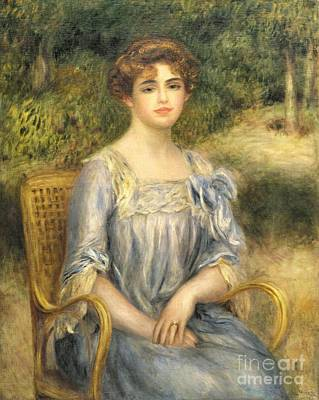 Wicker Chair Painting -  Madame Gaston Bernheim De Villers  by Pierre Auguste Renoir