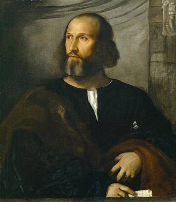 Half Man Painting -  Portrait Of A Bearded Man by Titian