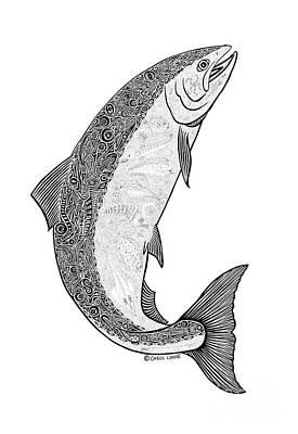 Salmon Drawing -  Salmon II by Carol Lynne
