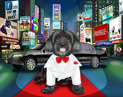 Sir Cuba Of Chelsea In Times Square Nyc Print by Catia Cho
