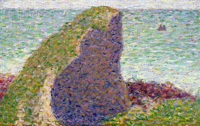 Seurat Georges Pierre 1859-91 Painting -  Study For Le Bec Du Hoc by Georges Pierre Seurat