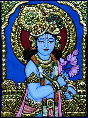 Tanjore Painting Print by Vimala Jajoo