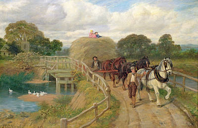 Morris Painting -  The Last Load  by Philip Richard Morris