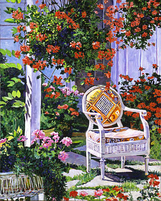 Wicker Chair Painting -  The Sunchair by David Lloyd Glover