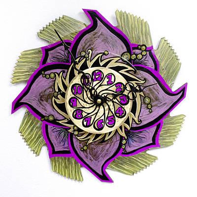 The Tuladromeda Clock Blossom Print by Jessica Sornson