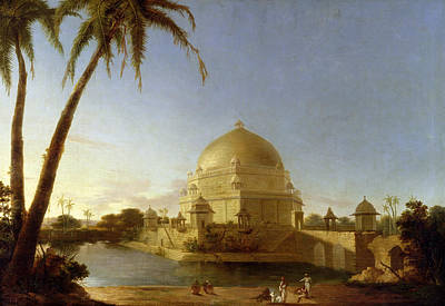 Dome Painting -  Tomb Of Sher Shah by D Robert
