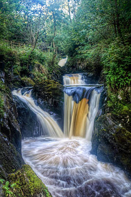 Knaresborough Photograph -  Triple Pecca Falls by Chris Frost