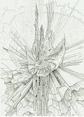 Abstract Drawing - 0811-15 by Charles Cater