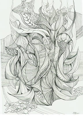 Abstract Drawing - 0811-2 by Charles Cater