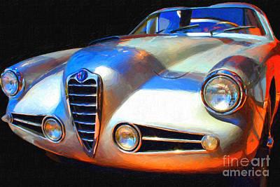 1955 Alfa Romeo 1900 Ss Zagato Print by Wingsdomain Art and Photography