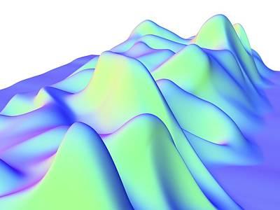Plotting Photograph - 3d Surface Graph, Computer Artwork by Pasieka