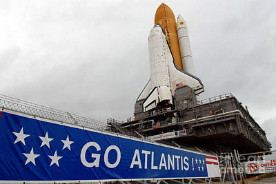 A View Space Shuttle Atlantis On Launch Print by Stocktrek Images