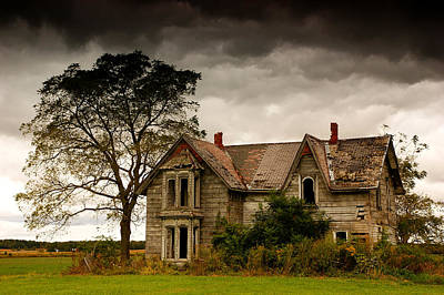 Creepy Photograph - Abandoned House by Cale Best