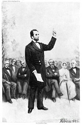 Gravure Photograph - Abraham Lincoln by Granger