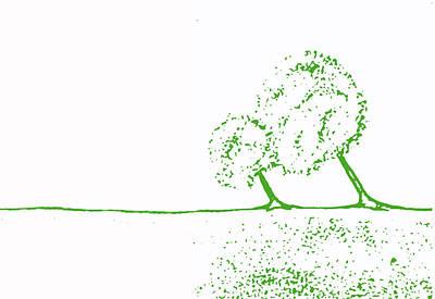 Abstract Tree Art By Shawna Erback Print by Shawna Erback