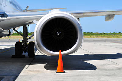 Air Transportation. Jet Engine Detail. Print by Fernando Barozza