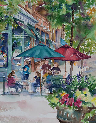 Store Fronts Painting - Al Fresco by Amy Caltry