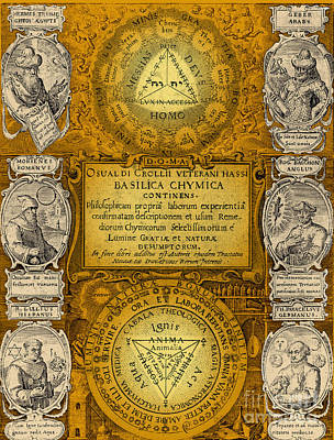 Seventeenth Century Photograph - Alchemy Treatise by Science Source
