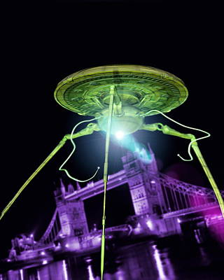 Alien Invasion Print by Victor Habbick Visions
