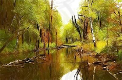 Along The River Print by Stefan Kuhn