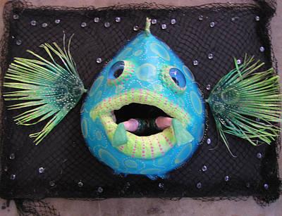 Palmfish Sculpture - Amos The Grouper by Dan Townsend