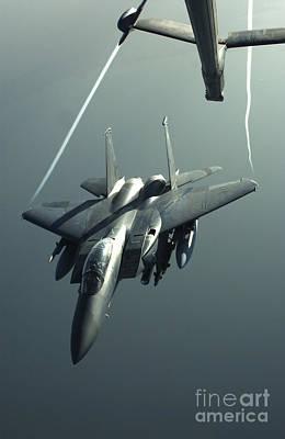 An F-15e Strike Eagle Flies Over Iraq Print by Stocktrek Images