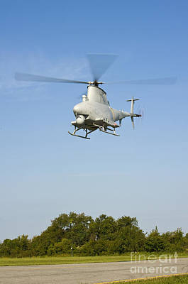 An Mq-8b Fire Scout Unmanned Aerial Print by Stocktrek Images