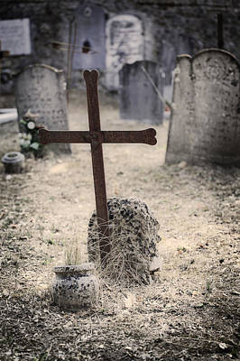 Grave Photograph - An Old Cemetery With Grave Stones by Joana Kruse