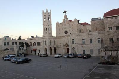 Annunciation Latin Church In Beit Jala Print by Munir Alawi