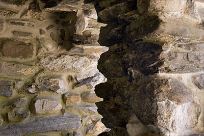 Architectural Detail Of Stone Work Print by Todd Gipstein