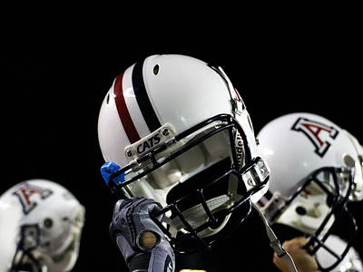 Wildcat Photograph - Arizona Football Helmets by University of Arizona