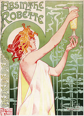 Advertisment Painting - Art Nouveau by Roberto Prusso