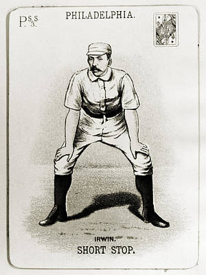 Shortstop Photograph - Arthur Irwin (1858-1921) by Granger