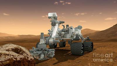 Analyze Digital Art - Artists Concept Of Nasas Mars Science by Stocktrek Images
