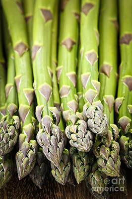 Healthy Photograph - Asparagus by Elena Elisseeva