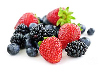 Antioxidant Photograph - Assorted Fresh Berries by Elena Elisseeva