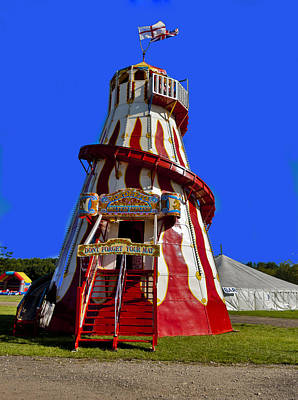 Helter-skelter Photograph - At The Fun Fair by Trevor Kersley