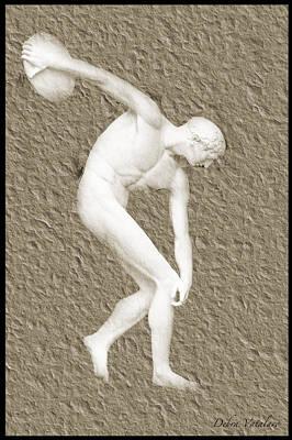 Athlete 2 Print by Debra     Vatalaro