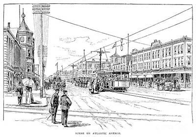 Telephone Poles Photograph - Atlantic City, 1890 by Granger