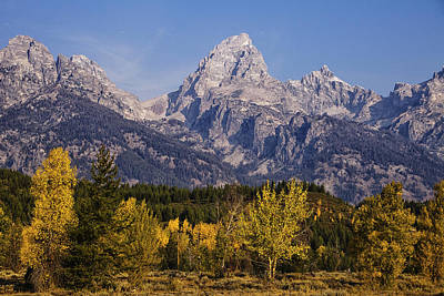 Autumn In The Tetons Print by Andrew Soundarajan