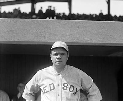 Baseball Uniform Photograph - Babe Ruth, 1919 by Everett