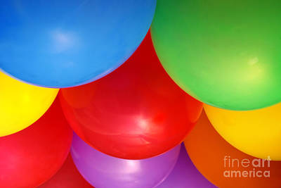 Balloons Background Print by Carlos Caetano