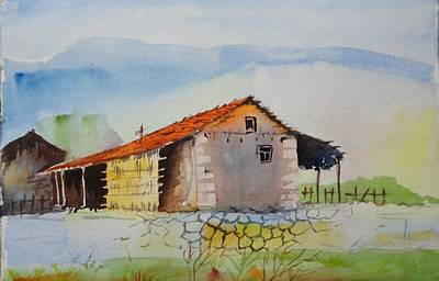 Bamboo House Painting - Bamboo House by Vijayendra Bapte