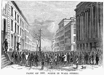 Bank Panic Of 1857 Print by Granger