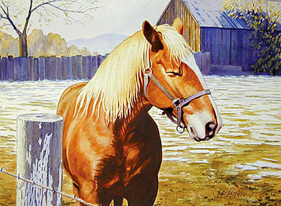 Phil Hopkins Painting - Barnyard Pony by Phil Hopkins