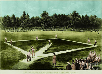Baseball In 1846 Print by Omikron