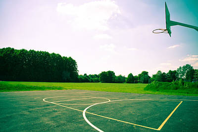Basketball Court Print by Tom Gowanlock