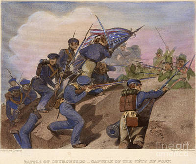 Battle Of Churubusco, 1847 Print by Granger